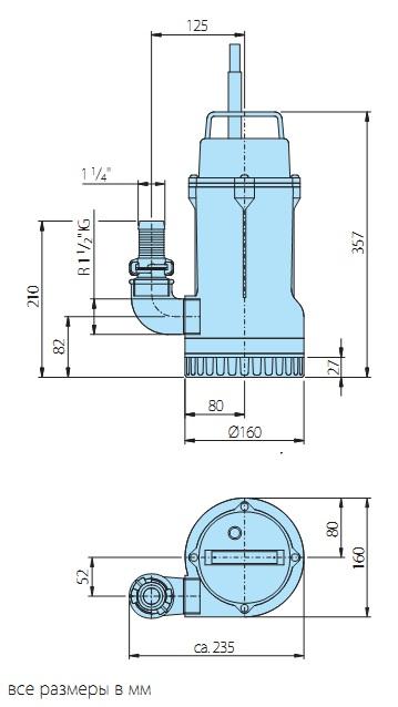 Размеры насосов homa cr 360 - 374 v