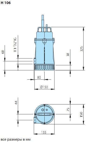 Дренажный насос кама нф-450/12